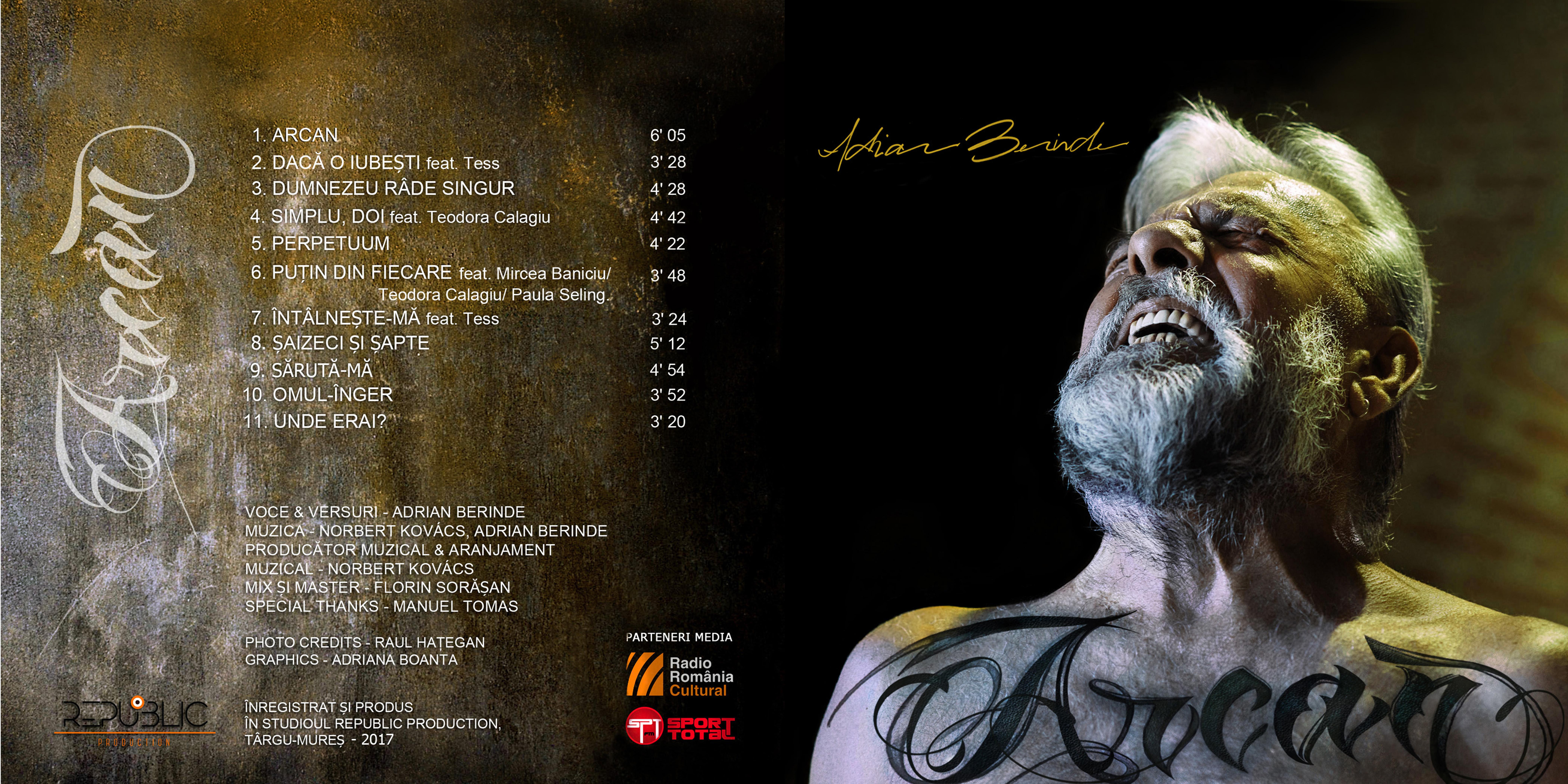 Coperta album Arcan, Adrian Berinde