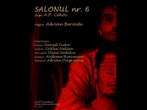 afis SALONUL NR. 6 – A.P. CEHOV, teatru Adrian Berinde